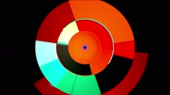 Rotating Solids Digital Stream Stock Footage