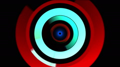 Red and Green Rotating Solids Digital Stream Stock Footage