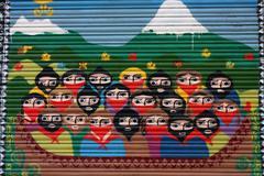 tribute to the ezln zapatista guerrilla - stock photo