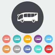 Bus icon - stock illustration