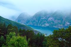 Stock Photo of view from stegastein viewpoint (aurland, norway)