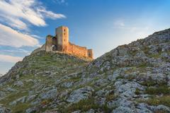 Antique fortress ruins. enisala Stock Photos