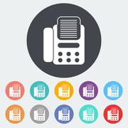 Fax icon. - stock illustration