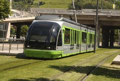 tram. bilbao, euskadi, spain. basque country - stock photo