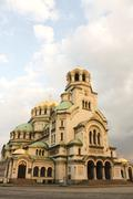 the st. alexander nevsky cathedral, sofia, bulgaria - stock photo