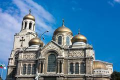 the assumption cathedral , varna, bulgaria - stock photo