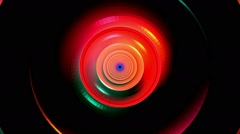 Digital circle, Stream, vj animation Stock Footage
