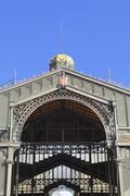 Borne market facade. barcelona, spain. Stock Photos