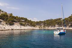 France, Provence-Alpes-Cote d'Azur, Bouches-du-Rhone, Calanque near Cassis, Stock Photos