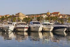 France, Provence-Alpes-Cote d'Azur, Department Var, Bandol, Marina Stock Photos