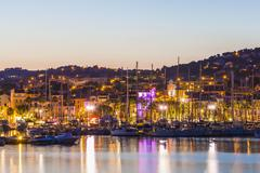 France, Provence-Alpes-Cote d'Azur, Department Var, Bandol, Marina in the - stock photo