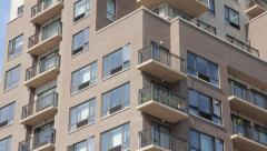 Condominium building exterior Stock Footage
