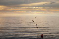 Slovenia, Istria, Slovene Littoral, Izola, Adriatic coast in the evening - stock photo