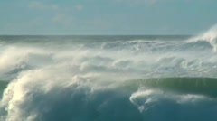 Storm ocean wind waves sea spray  Stock Footage
