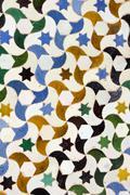 Moisaic in alhambra, granada. Stock Photos