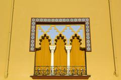 Window in arabian style. cordoba, spain. Stock Photos