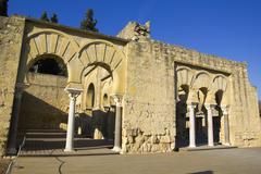upper basilic building. medina azahara. - stock photo