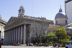 the buenos aires metropolitan cathedral - stock photo