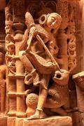 decorative carving of jain temples, jaisalmer, india - stock photo