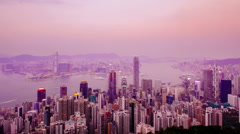 Hong Kong time-lapse - ZOOM IN (different image crops available) Stock Footage