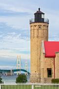 Lighthouse and the Mighty Mac Stock Photos