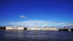 View at Kunstkamera museum, St. Petersburg, Russia Stock Footage