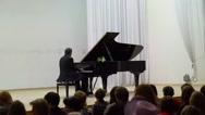 Stock Video Footage of Musician Vladimir Mishchouk performs in Karelia Philarmony