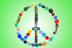 peace sign - stock photo