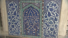 Tiles of ottoman palace Stock Footage
