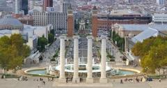 4K Font Magica atop Montjuïc in Barcelona Stock Footage