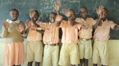 Primary School. Kenya. Africa Stock Footage