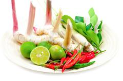 Stock Photo of ingredients for cooking 'tom yum' dish chili hot spicy soup thai popular famo