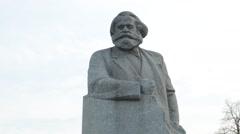 Karl Marx Monument, Teatralnaya (Theatre) Square, Moscow Stock Footage