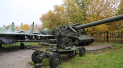 Pan of Historical Russian Tanks Stock Footage