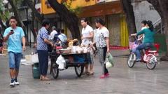 Shenzhen street food stalls Stock Footage