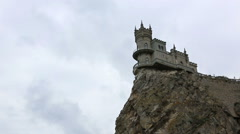 Swallow's Nest Castle, Crimea Stock Footage