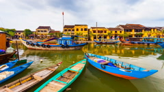 1080 - Timelapse of old Hoi An city in Vietnam Stock Footage