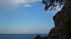 Rainbow over the sea Stock Footage