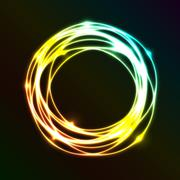 Abstract background with colorful plasma circle effect Stock Illustration
