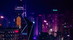 Hong Kong's futuristic skyline Stock Footage