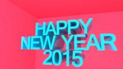 Happy New Year 2015 Celebration Stock Footage