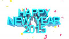 Happy New Year 2015 Stock Footage