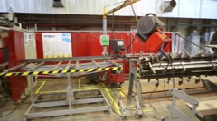 Equipment and worker in Tver Railway Carriage Plant. Stock Footage