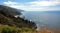 Time Lapse of Cloudscape over Central California Coastline -Tilt Up- - stock footage