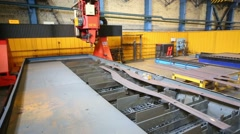 New cut metal parts in Tver Railway Carriage Plant. Stock Footage