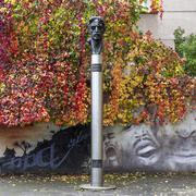 frank zappa statue - stock photo