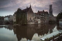Bruges belfry in the evening Stock Photos