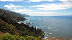 Time Lapse of Cloudscape over Central California Coastline - stock footage