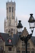 Stock Photo of early morning on grote markt in bruges