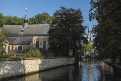 the begijnhof in bruges - stock photo